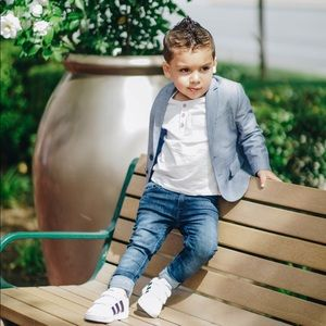 Toddler Boys Light Blue Blazer
